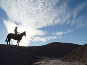 Man on Horseback at Indian Cliffs Ranch